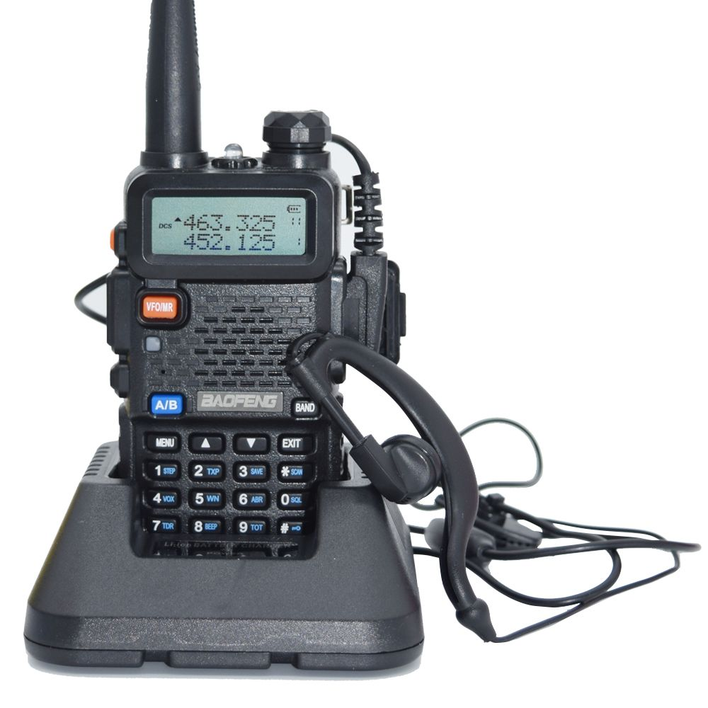 Baofeng UV-5R De Poche Radio Bidirectionnelle Talkie Walkie Pour VHF UHF Double Bande Jambon CB Radio Station
