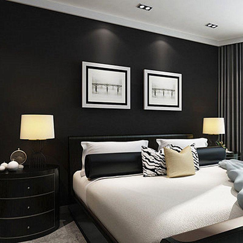 Einfarbig PVC Exfoliator Tapete Schwarz Moderne Wasserdichte Kunstleder Tapeten Wohnzimmer Schlafzimmer Papel De Parede 3D