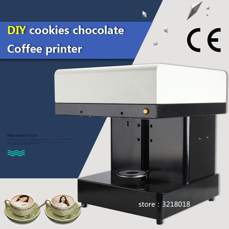 Factory direct hot sale Cappuccino 3d/Cake Selfie Latte Art Coffee Printer Face Machine/Chocolate Printer with Food ink
