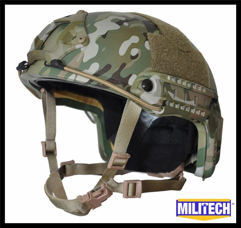 ISO Zertifiziert MILITECH MC DELUXE Wurm Zifferblatt NIJ Level IIIA SCHNELLE High Cut Kugelsichere Aramid Ballistischen Helm Mit 5 Jahre garantie