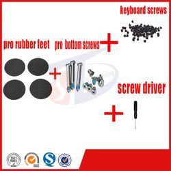 4pcs/set for macbook pro 13''15''17'' A1278 A1286 A1297 pro rubber feet foot bottom keyboard screws set screw driver