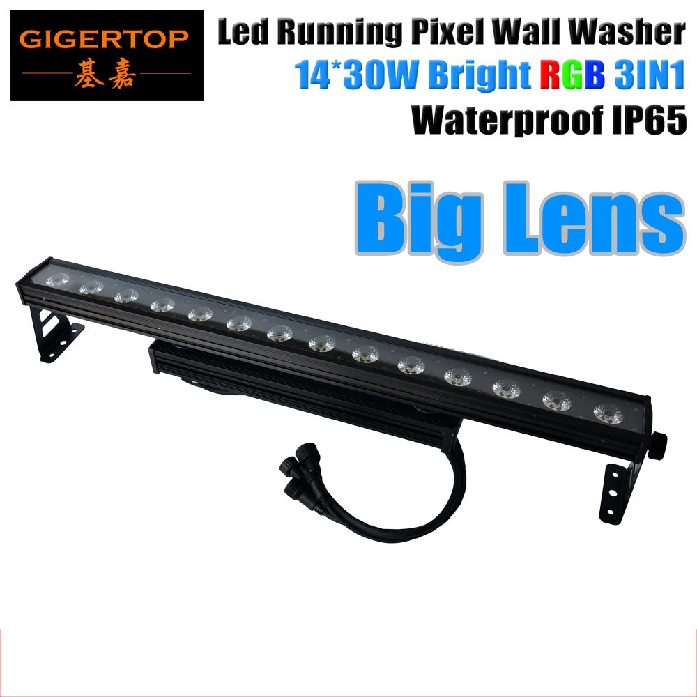 TIPTOP Stage Light IP65 Waterproof 14x30W RGB 3IN1 Led Wall Washer Light Background Decoration Flash Pixel Running Light CE ROHS