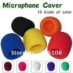 on stage microphone high density windscreen foam cover audio foam microphone windshield color free shipping 10pcs lot