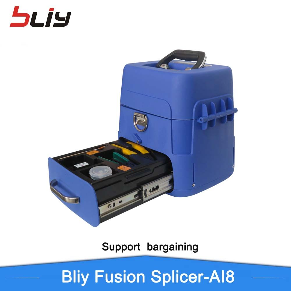 Newest AI8 Automatic fiber optic fusion splicer digital intelligent FTTH optical welding splicing machine