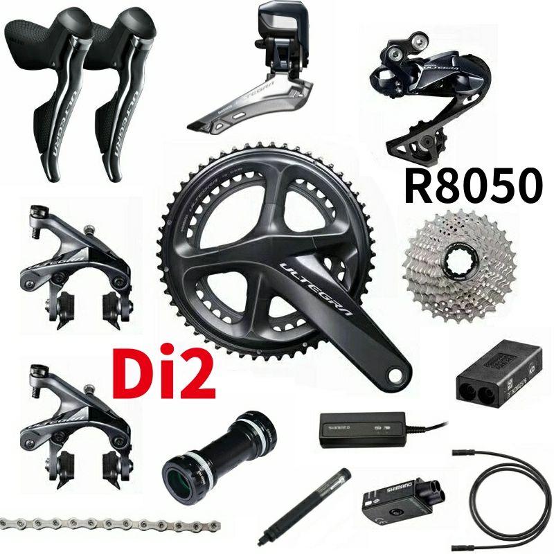 Shimano Ultegra R8050 Di2 2x11-Speed Groupset Rennrad Groupset 170 50-34 53-39 Fahrrad Gruppe Set 2*11 geschwindigkeit