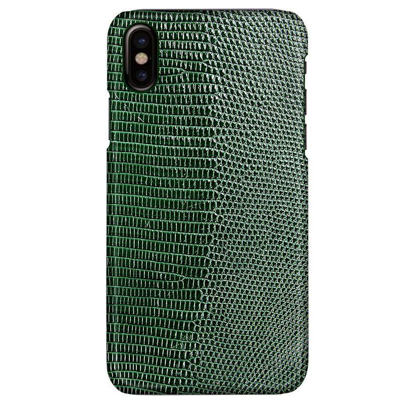 Stock ! 7 Colors Real Natural Genuine Lizard Skin Leather Case for iphone X 5.8'' Luxury Back Cover for iphoneX Free Shipping
