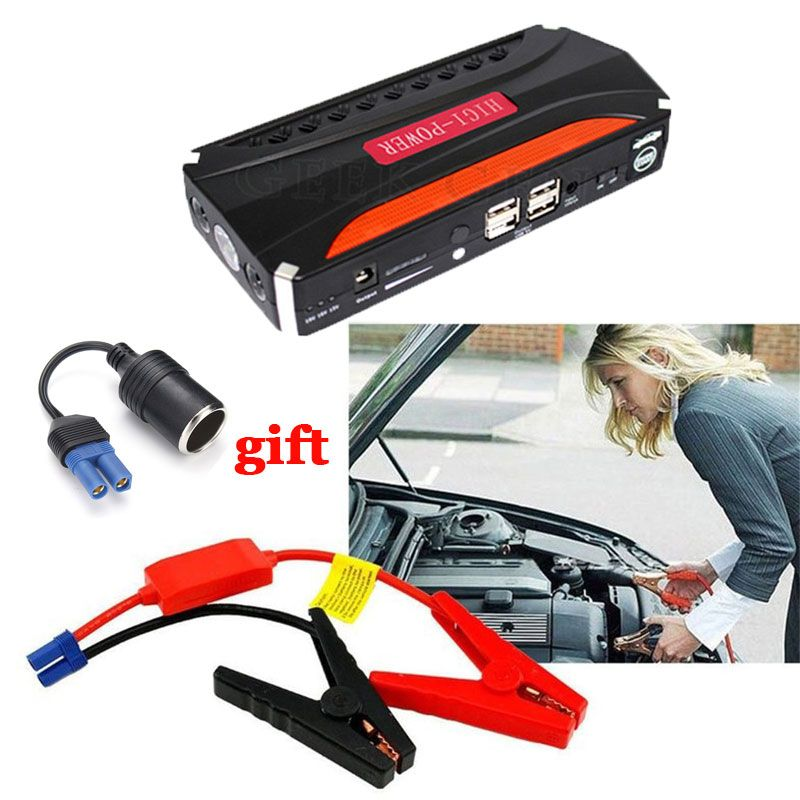 Car Jump Starter Multifunction Emergency Car Charger Booster Power Bank Battery Portable Jump Starter Auto Starting Devices LED