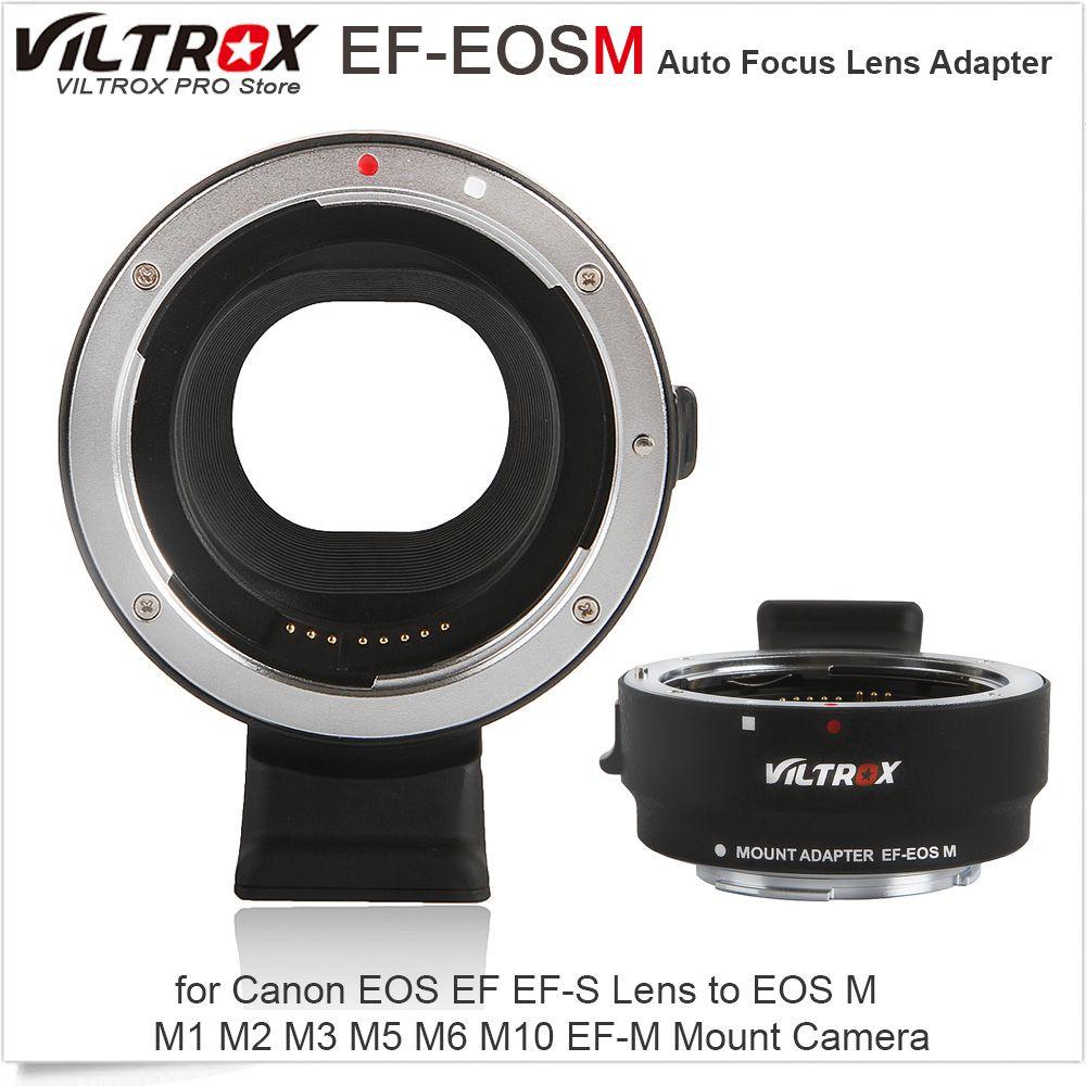 Viltrox EF-EOSM Electronic Auto Focus Lens Adapter for Canon EOS EF EF-S Lens to EOS M M1 M2 M3 M5 M6 M10 EF-M Mount Camera