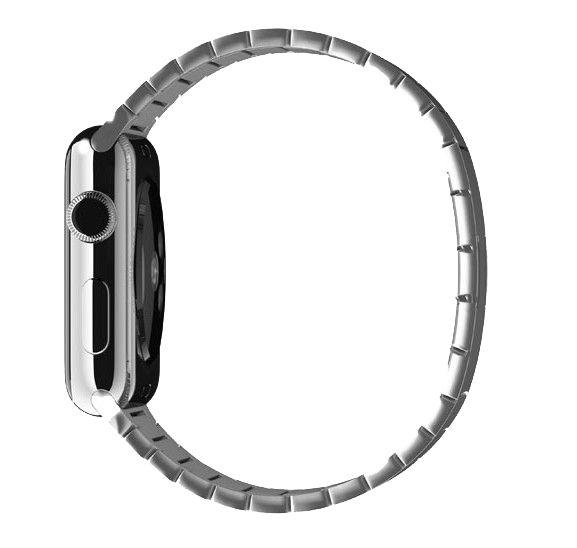 Bracelet à maillons URVOI pour apple bracelet de montre série 4321 bracelet de luxe en acier inoxydable pour iwatch avec boucle papillon 38/40/42/44mm