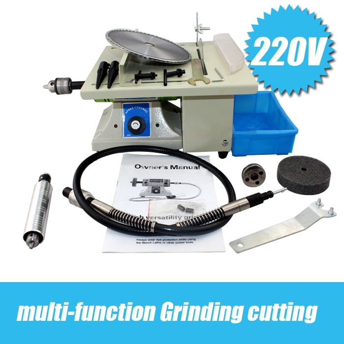 Multifunctional Desk Cutting Grinding Polishing Carving Machine Jade Wood Nuclear Full Function Engraving All in One Machine