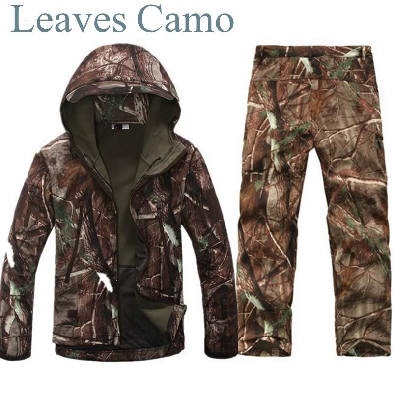Tad v 4.0 Shark Skin Softshell Outdoors Camping Jacket Tactical Military Camouflage Hunting Jacket Pants