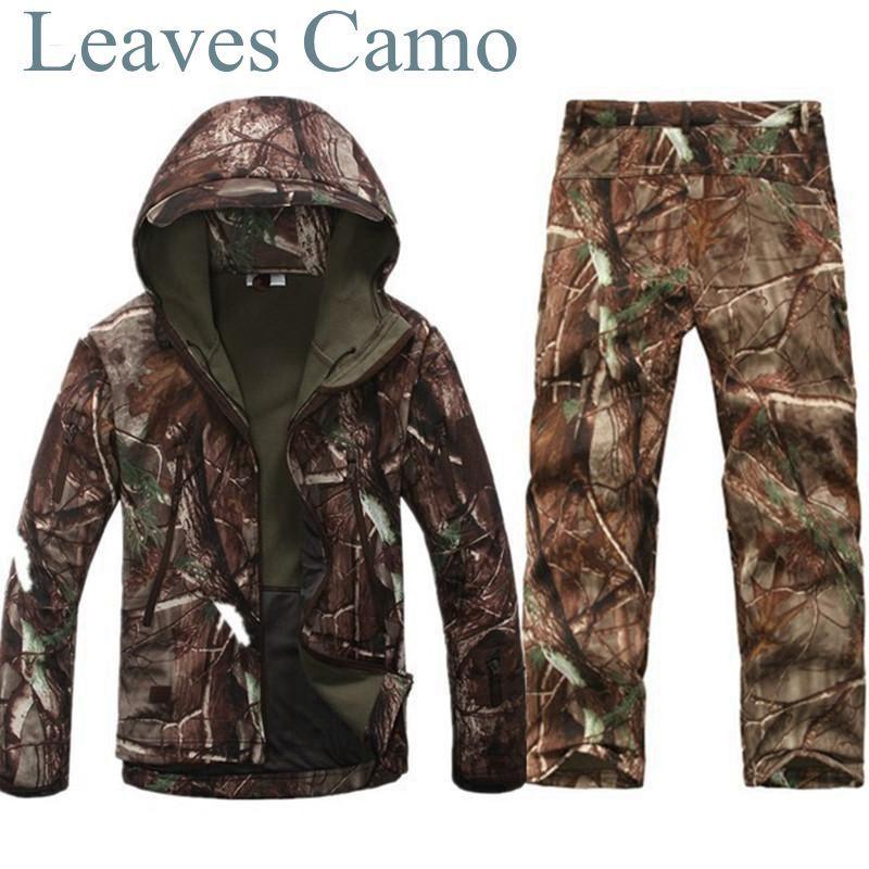 Tad v 4.0 <font><b>Shark</b></font> Skin Softshell Outdoors Camping Jacket Tactical Military Camouflage Hunting Jacket Pants
