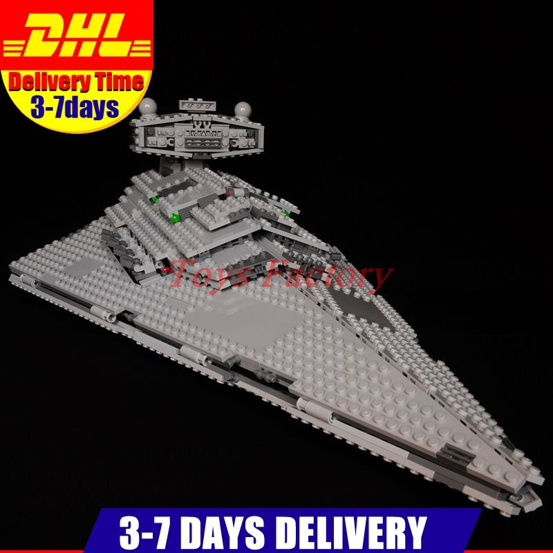 In Stock Lepin 05062 UCS Series The Imperial Super Star Destroyer Set Educational Building Blocks Bricks Clone 75055