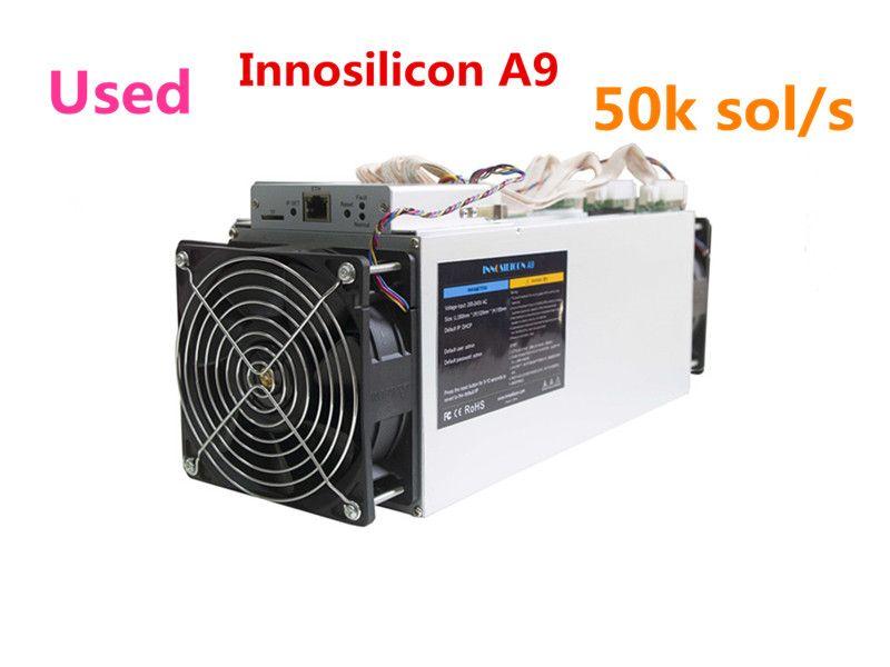 Verwendet Innosilicon A9 ZMaster 50 karat sol/s Equihash Asic Miner Zcash ZCL ZEC BTG Bergbau Maschine Besser Als antminer Z9 Z9 Mini