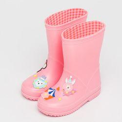 Yeafey Anak Karet Rain Boots Anak PVC Sepatu Bayi Perempuan permen Jelly Lucu Hujan Sepatu Pertengahan Betis Merah Merah Muda Tahan Air Lembut Boots