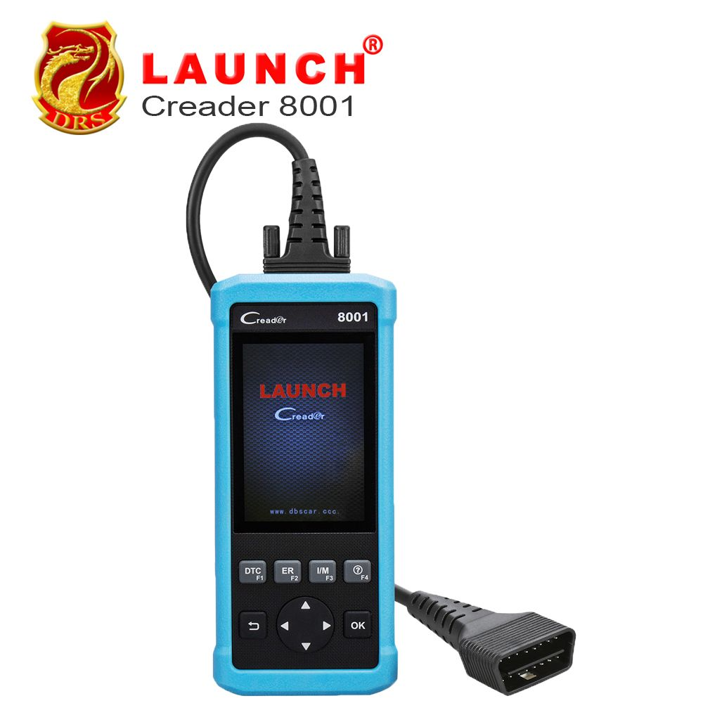 New Launch DIY Code Reader CReader 8001 Full OBD2 Scanner/Scan Tool with Oil,EPB Reset Service CR8001 support ABS & SRS