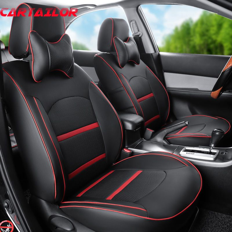 CARTAILOR auto seat covers & support for Chrysler 300c 2006 cars interior accessories seat cover set PU leather seat cushion pad