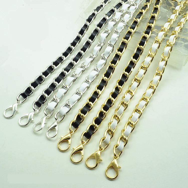 Hight qualité poignée en cuir sac à main sac bandoulière sac à main du matériel chaîne sac pièces sac sac de chaîne de bracelet chaîne ceinture