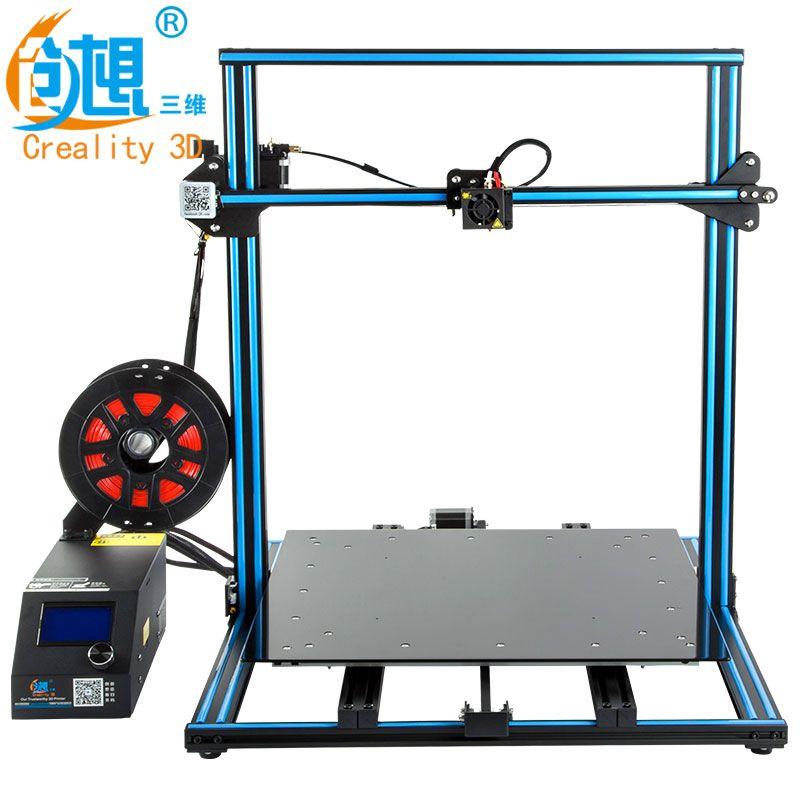 Verrückte Preis CREALITY 3D FDM Druck CR-10 500*500*500mm Größe Metall V-slot Rahmen 3D drucker kit Filament Unterstützung drucker