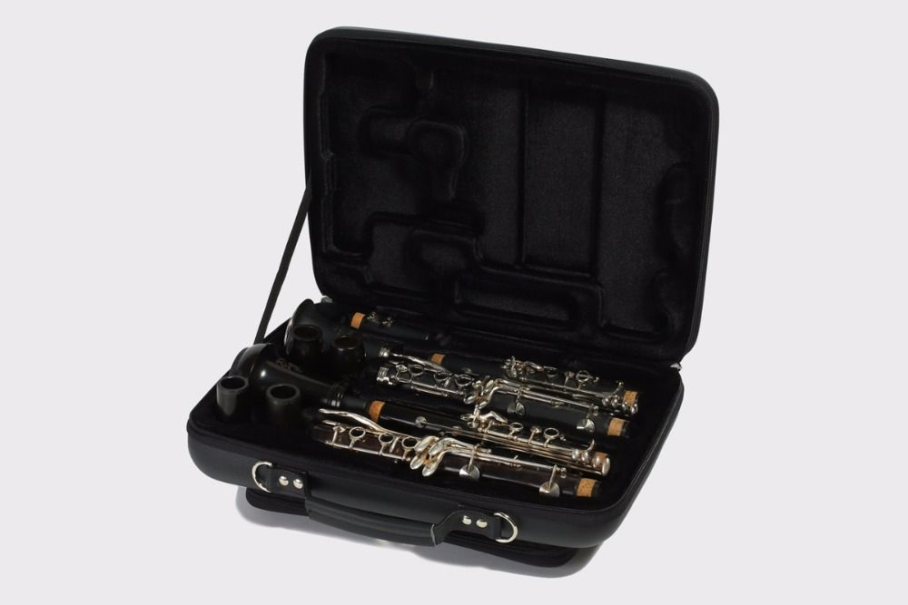 PU shaped Double Clarinet case for A and Bb Clarinet