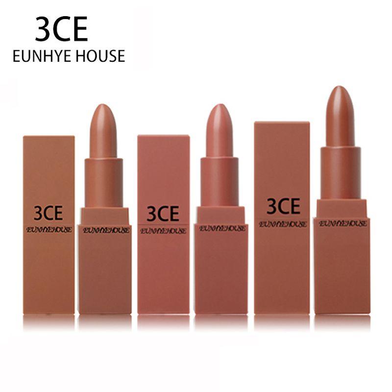3CE EUNHYE HOUSE Lipstick Matte Lipstick Waterproof Lips Cosmetics Easy To Carry Matte Lipsticks 5 Colors In Set Hot Sale