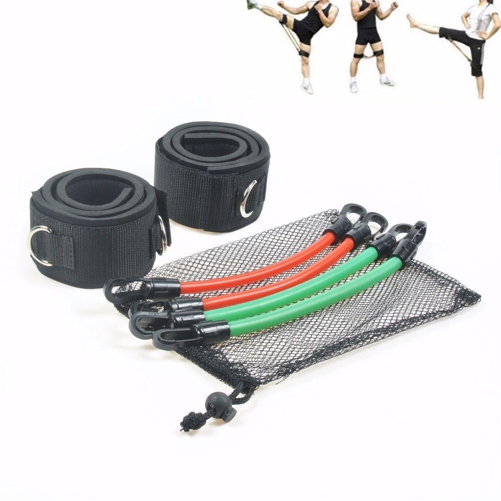 6 pièces/ensemble jambe cuisse élastique résistance agilité saut formation élastique Crossfit bande élastique Musculation salle de sport Tubes en Latex