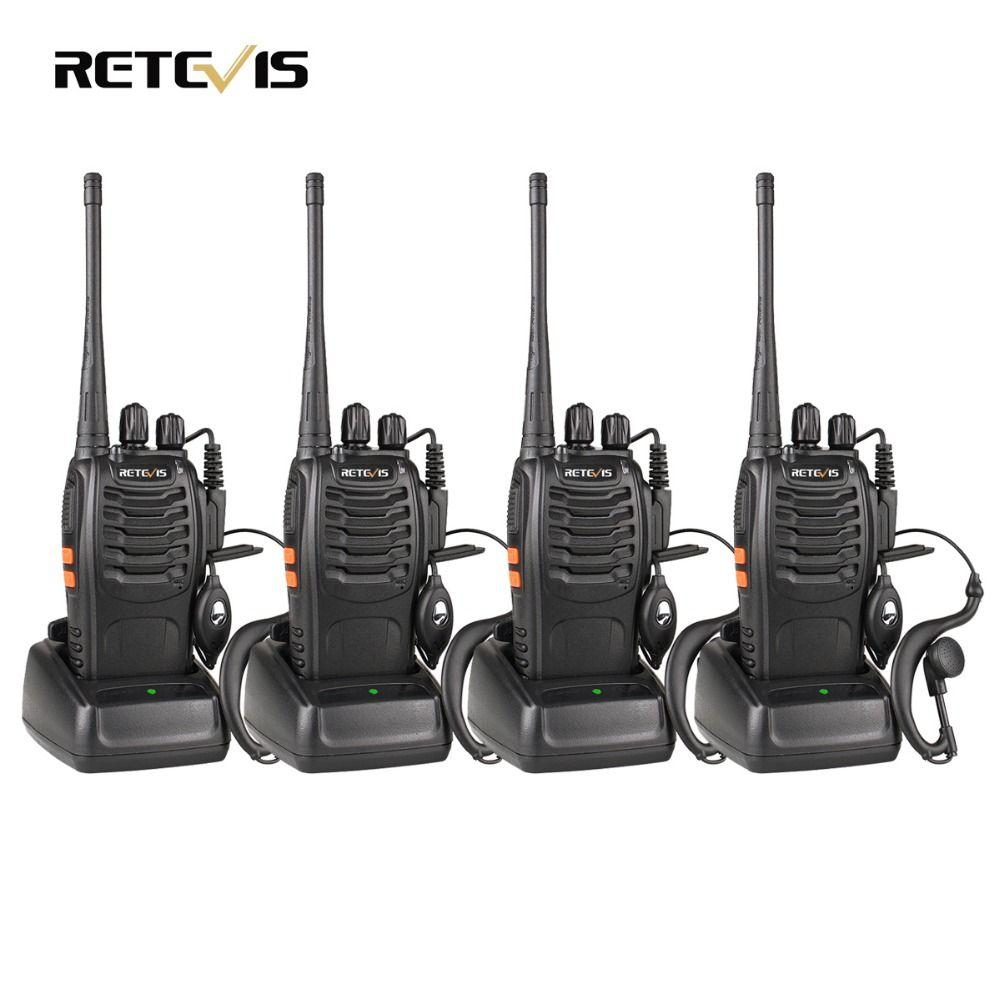 4 pcs Talkie Walkie Retevis H777 UHF Ham Radio Hf Émetteur-Récepteur Radio Comunicador Talkie-walkie A9105A