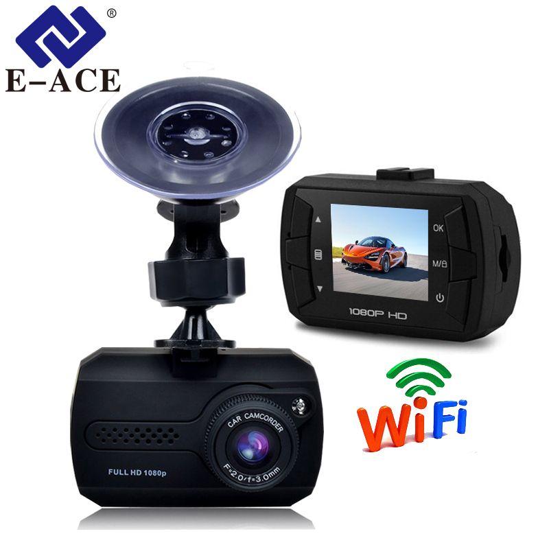 E-ACE Mini Wifi Car Dvr Full HD 1080P Dash Camera 1.5 Inch Recorder Video Automovil Registrator Dash Cam Camcorder Recorder