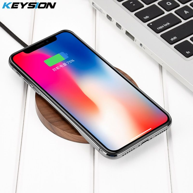 KEYSION 10.8W Qi fast Wireless Charger for Xiaomi MIX 2S Quick Charging Pad for iPhone X XS Max XR 8 Plus for Samsung S9+ Note 9