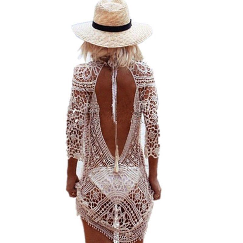 Bikini Crochet cache plage femme plage robe cache maillot De bain maillot De bain maillot De bain grande taille Saida De plage tunique