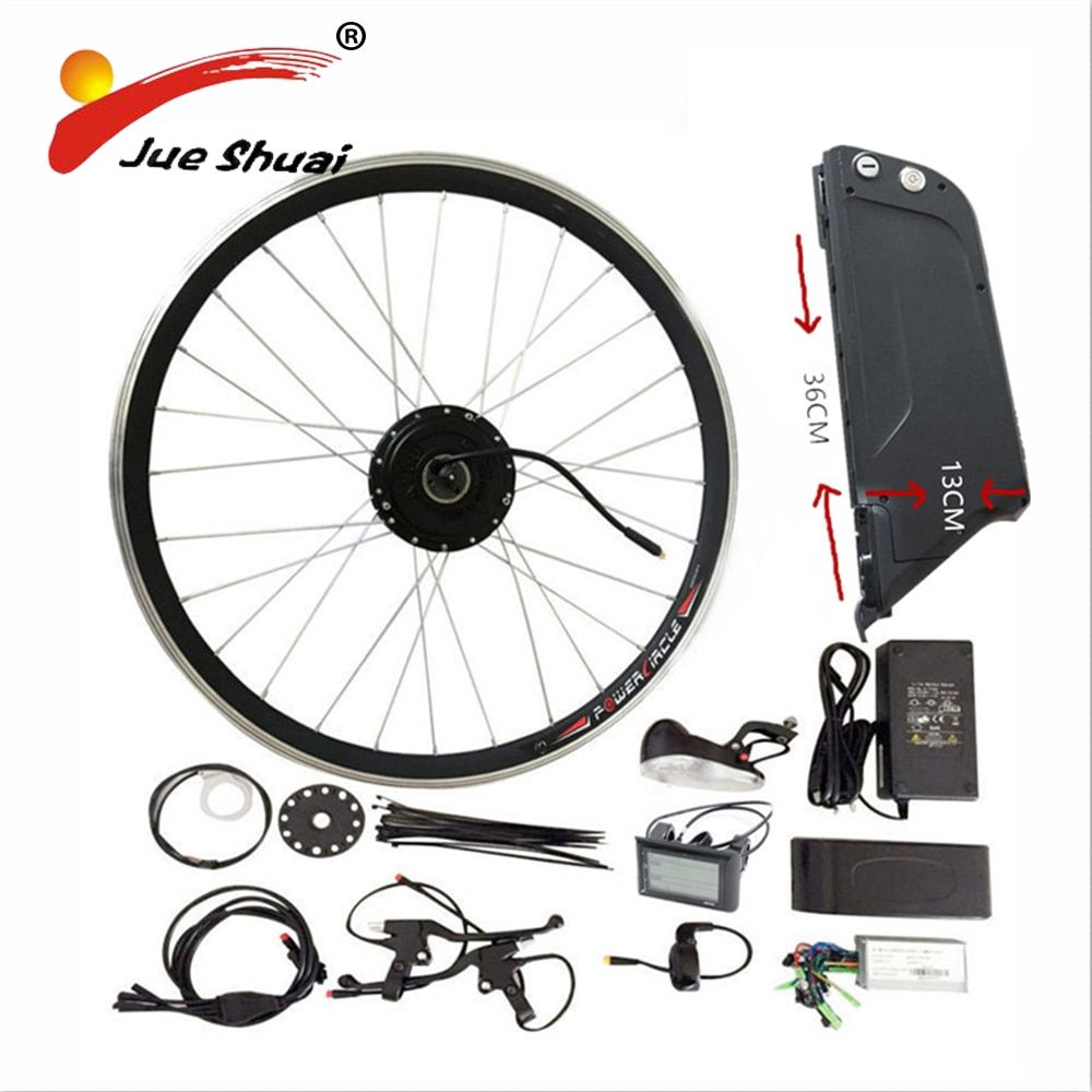 Sales Promotional 48V 10AH Electric Bike Kit With Rear Rack and Kettle Battery 500W Geared Motor for 26