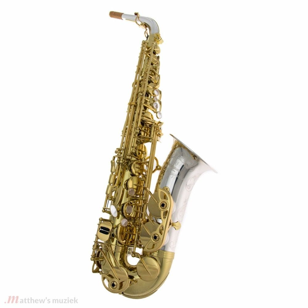 Alto Saxophone A-9933 A-W033 Elite Model Silver Neck Bell Sax Professional Mouthpiece Patches Pads Reeds Bend Neck