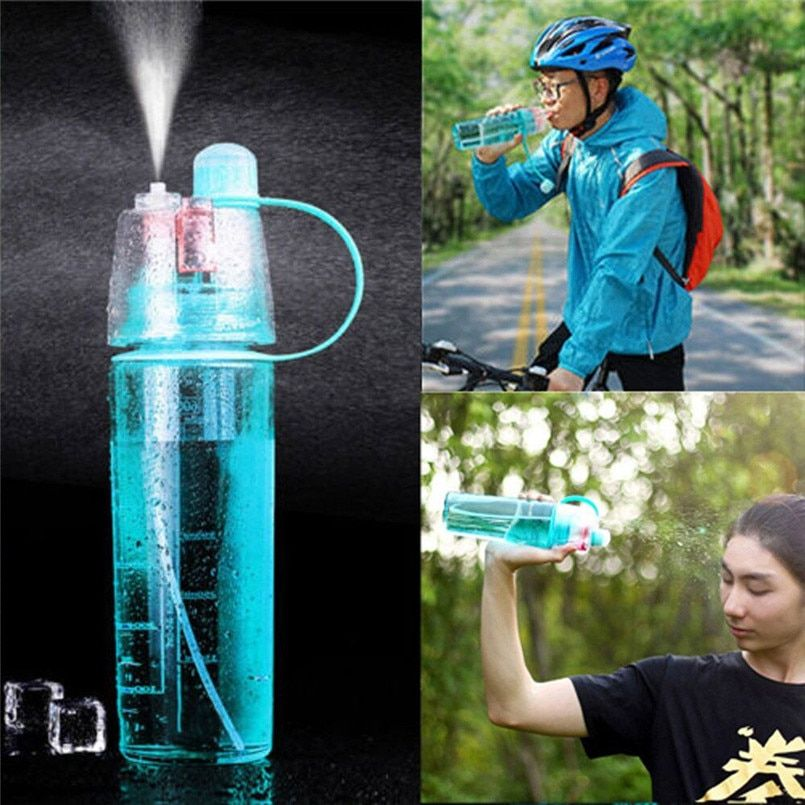 snowshine#4501 Outdoor Sport Cycling Bike Bicycle Travel Water Drink Bottle Portable Leak Proof Cup Spray Bottle 400ML