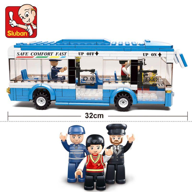 0330 Ville Bus Blocs de Construction briques Pour L'éducation de BRICOLAGE Briques garçons Jouets anniversaires compatible legoes cadeau enfant ensemble ville bus voiture