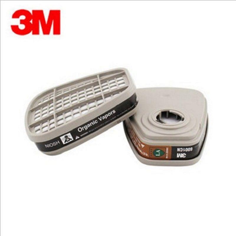 1 paire = 2 pièces 3M 6001CN cartouche filtrante respirateur gaz organique peinture en aérosol benz vapeurs pour 6000/7000 série masque à gaz