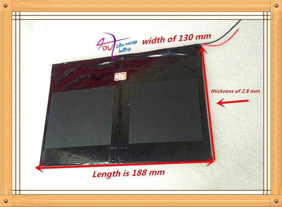 Tablet PC talk9x u65gt, batterie 28*130*188 3,7 V 10000 mah Li-ion akku 'for 28130188 polymer batterie Tablet batterie