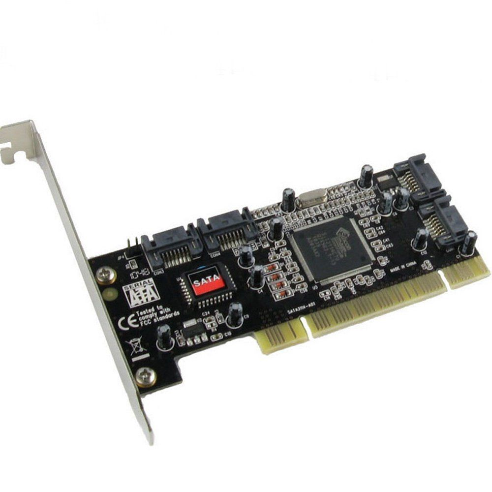 Free shipping PCI card 4 <font><b>Port</b></font> SATA add on Card with Sil 3114 Chipset Compliant with PCI Specification, revision 2.2 for computer