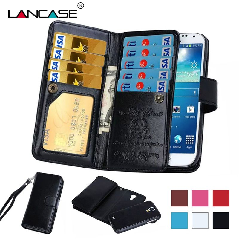 LANCASE luxe portefeuille téléphone sacs étui pour Samsung Galaxy S8 étui Flip cuir détachable fentes pour cartes pour Samsung Galaxy S8 Plus