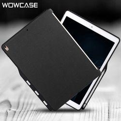 Wowcase Pensil Pemegang Kasus untuk iPad Pro 10.5 Mewah Kasual Pu Kulit Silikon Penutup Belakang Pelindung untuk Apple Ipad Air 3 Case