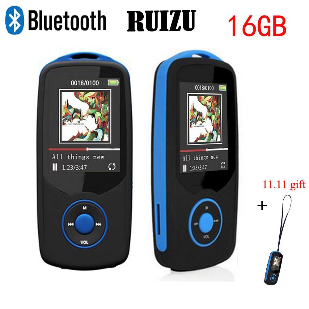 RUIZU X06 Mini Sports mp3 player bluetooth 16GB Digital Sound MP3 Music Player Video Player HIFI Stereo FM Radio lanyard gift