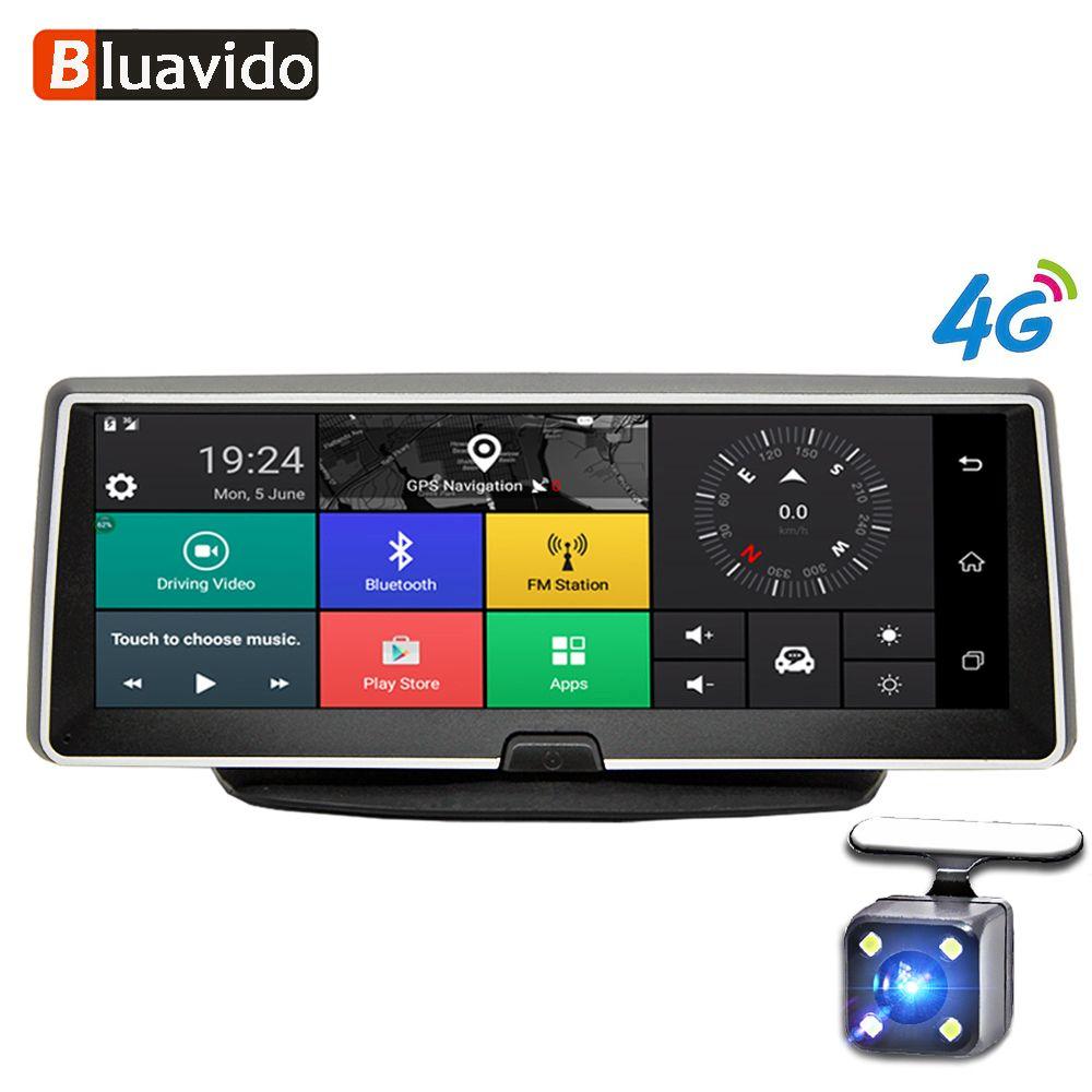 Bluavido 8 Zoll auto dash kamera 4G Android GPS Navigation ADAS FHD 1080 P auto dvr video Recorder Nacht vision Parkplatz monitor