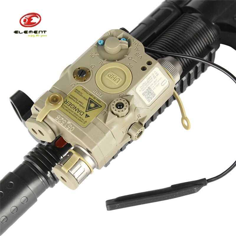 Element EX419 LA-5C UHP Battery Case Green Dot Laser IR Lens Tactical LED Flashlight Airsoft Hunting Gun Shotgun Laser Battery