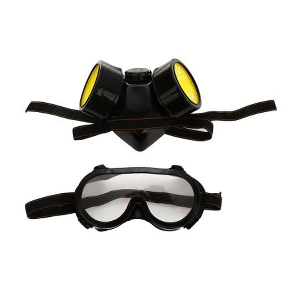 NEW Safurance Double Filter Gas Protection Mask Filter Chemical Respirator Mask for Fire Self-help Protection Workplace Safety