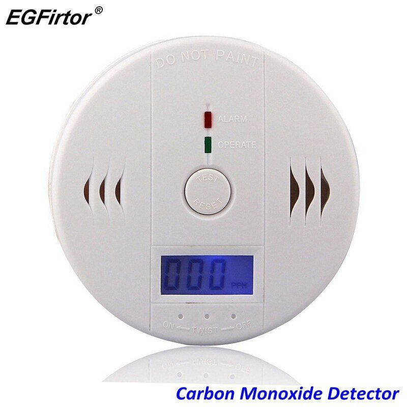 Home Security 85dB Warning-up High Sensitive LCD Independent CO Gas Sensor Carbon Monoxide Poisoning Alarm Detector For Kitchen