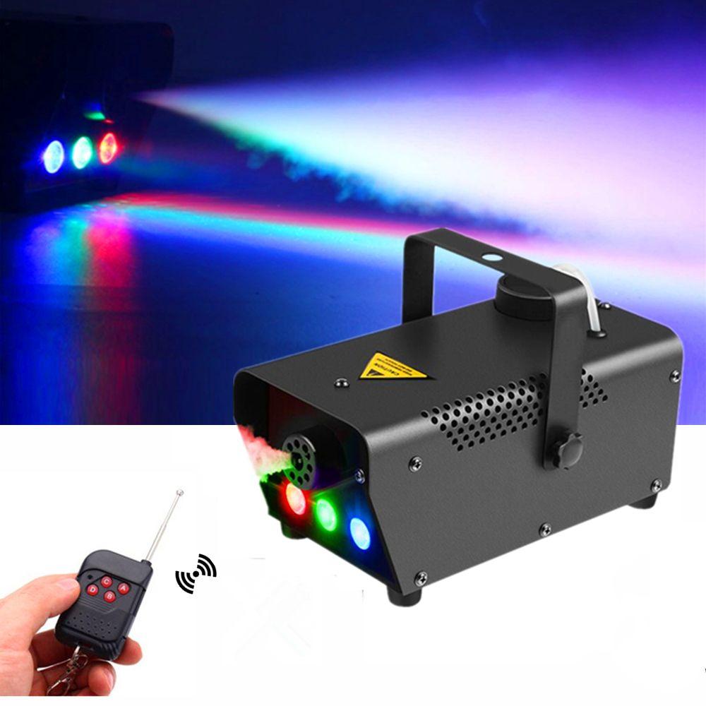 Haute qualité sans fil contrôle 500W Machine à fumée/Mini LED Machine à brouillard/éjecteur de fumée/brumisateur professionnel avec rvb 3X3W LED lumières