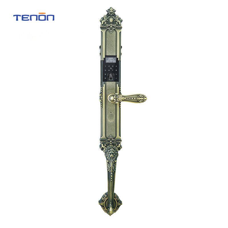 1PC TENON F2E RF Sensor Smart Fingerprint Reader Code, Key Touch Screen Digital Password Electronic anti-theft Safe Door Lock