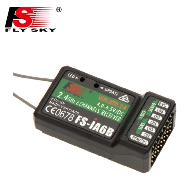 Flysky 2.4G 6CH FS-iA6B iA6B Receiver PPM Output With iBus Port Compatible with FS-i4 FS-i6 FS-i10 FS-GT2E FS-GT2G