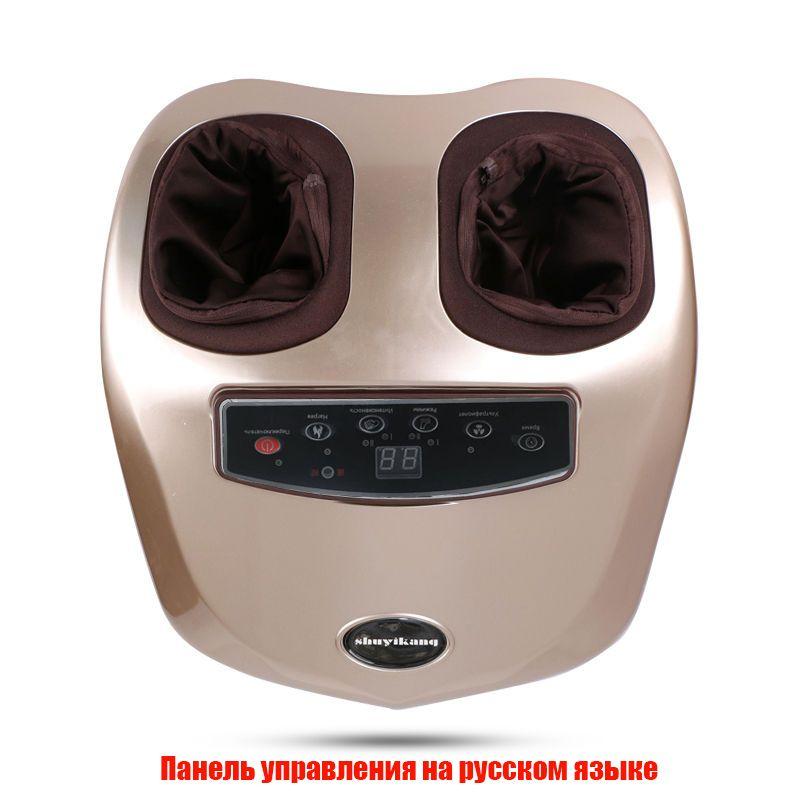 Menü in Russische 220 v elektrische fuß massager füße masseur automatische kneten und heizung massager für die füße 1 jahr garantie