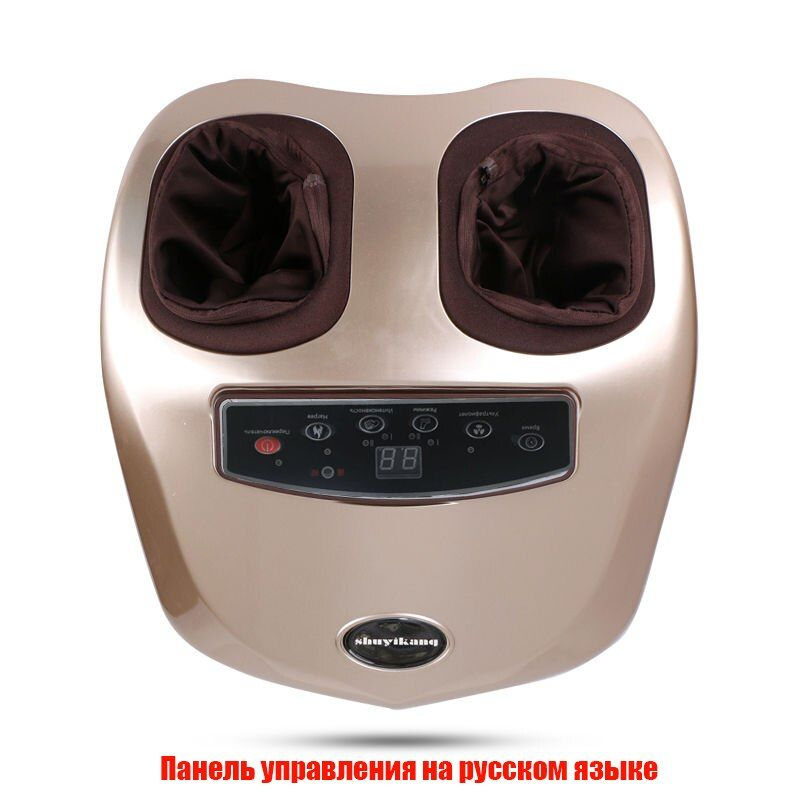 Menu in Russian 220 v electric foot massager feet masseur automatic kneading and heating massager for the feet 1 year warranty