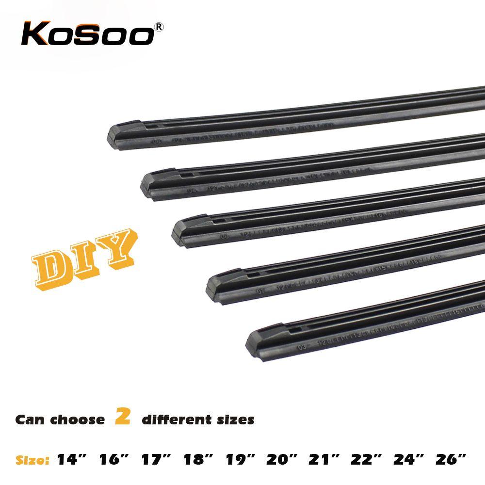 KOSOO Wiper Strips Car Vehicle Insert Rubber Strip Blade (Refill) 8mm Soft 14